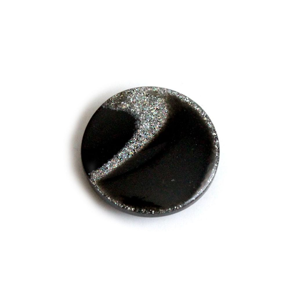 Fur Coat Button - Black - 26mm