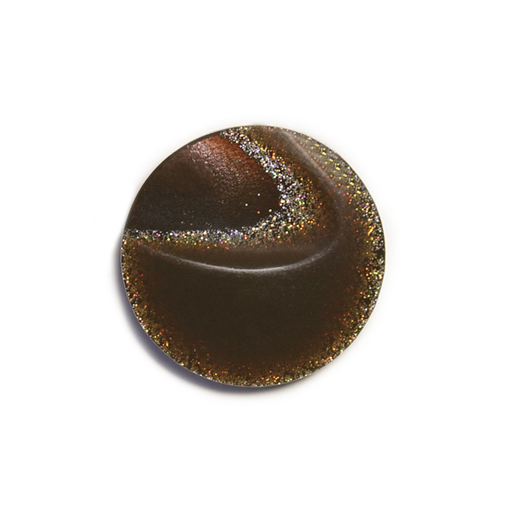 Fur Coat Button - Brown - 34mm