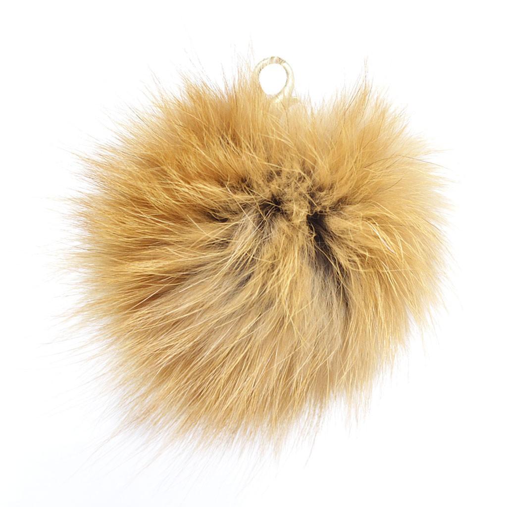 "Lana's 3"" Real Fur Pom-Pom - Red* Fox Fur"