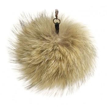 "Lana's 3"" Real Fur Pom-Pom - Light Brown* Coyote Fur"