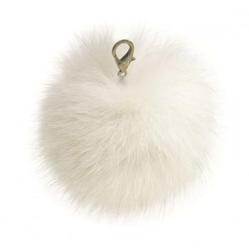 "Lana's 3"" Real Fur Pom-Pom - Norwegian* Fox Fur"